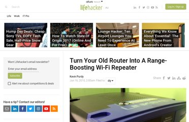 http://www.lifehacker.com.au/2010/06/turn-your-old-router-into-a-range-boosting-wi-fi-repeater/