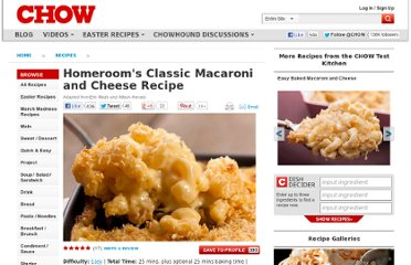 http://www.chow.com/recipes/30436-homerooms-classic-macaroni-and-cheese