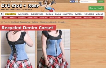 http://www.cutoutandkeep.net/projects/recycled_denim_corset