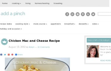 http://addapinch.com/cooking/2012/08/13/chicken-mac-and-cheese-recipe/