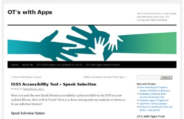 http://otswithapps.com/2011/11/06/ios5-accessibility-tool-speak-selection/