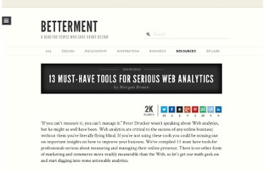 http://www.dtelepathy.com/blog/resources/13-must-have-tools-for-serious-web-analytics