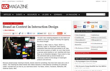 http://uxmag.com/articles/brand-as-context-in-interaction-design