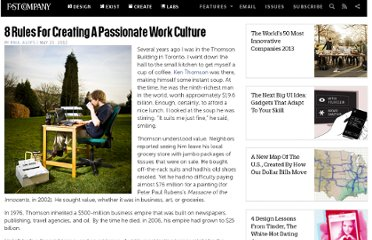 http://www.fastcompany.com/1837853/8-rules-creating-passionate-work-culture