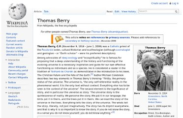 http://en.wikipedia.org/wiki/Thomas_Berry