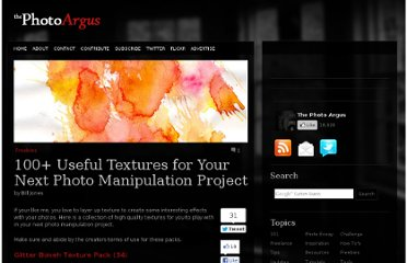 http://www.thephotoargus.com/freebies/100-useful-textures-for-your-photo-manipulation-projects/