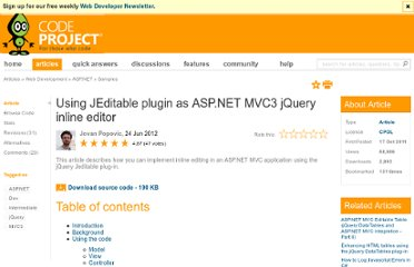 http://www.codeproject.com/Articles/265211/Using-JEditable-plugin-as-ASP-NET-MVC3-jQuery-inli