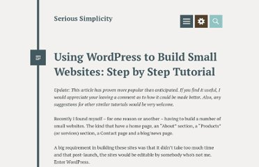 http://richardmuscat.wordpress.com/2009/03/25/using-wordpress-as-a-cms-step-by-step-tutorial/