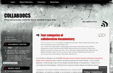 http://collabdocs.wordpress.com/2011/11/30/four-categories-of-collaborative-documentary/
