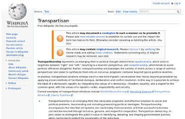 http://en.wikipedia.org/wiki/Transpartisan