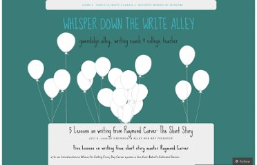 http://whisperdownthewritealley.wordpress.com/2009/07/08/5-lessons-on-writing-from-raymond-carver-the-short-story/