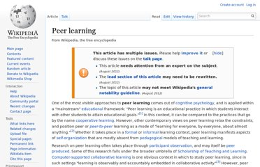 http://en.wikipedia.org/wiki/Peer_learning