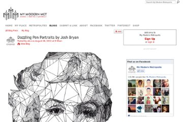 http://www.mymodernmet.com/profiles/blogs/josh-bryan-pen-portraits-triangulation