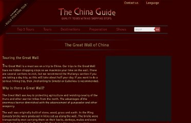 http://www.thechinaguide.com/index.php?action=activity/greatWallOfChina
