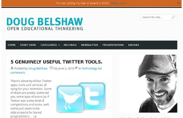 http://dougbelshaw.com/blog/2010/06/02/5-genuinely-useful-twitter-tools/