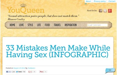 http://youqueen.com/love/sex/33-mistakes-men-make-while-having-sex-infographic/
