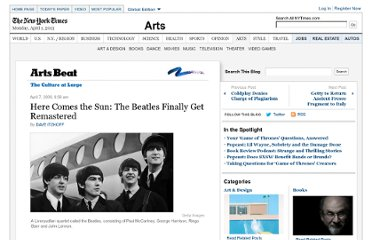 http://artsbeat.blogs.nytimes.com/2009/04/07/here-comes-the-sun-the-beatles-finally-get-remastered/