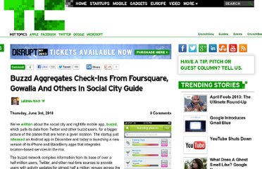 http://techcrunch.com/2010/06/03/buzzd-aggregates-check-ins-from-foursquare-gowalla-and-others-in-social-city-guide/