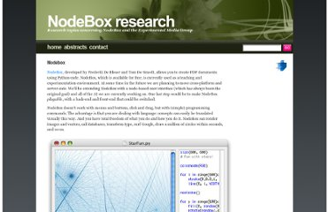 http://research.nodebox.net/index.php/Nodebox