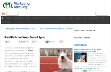 http://www.marketingtechblog.com/perfection-vs-speed/