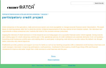 https://sites.google.com/site/creditwatch/Home/resources/participatory-credit-project