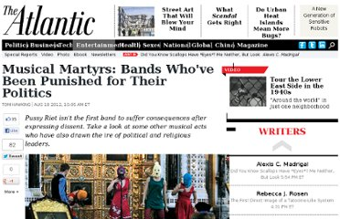 http://www.theatlantic.com/entertainment/archive/2012/08/musical-martyrs-bands-whove-been-punished-for-their-politics/261272