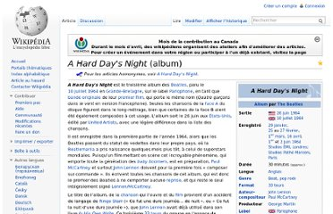 http://fr.wikipedia.org/wiki/A_Hard_Day%27s_Night_(album)