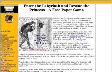 http://www.stormthecastle.com/how-to-make-a/paper-game/paper-game-enter-the-labyrinth-and-rescue-the-princess.htm