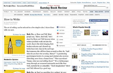http://www.nytimes.com/2012/07/29/books/review/colson-whiteheads-rules-for-writing.html?pagewanted=all#