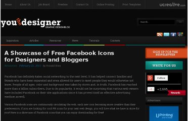 http://www.youthedesigner.com/2011/02/22/a-showcase-of-free-facebook-icons-for-designers-and-bloggers/