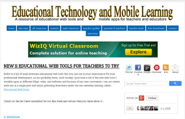 http://www.educatorstechnology.com/2012/08/new-11-educational-web-tools-for.html