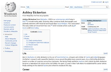 http://en.wikipedia.org/wiki/Ashley_Bickerton