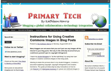 http://primarytech.global2.vic.edu.au/2012/08/20/instructions-for-using-creative-commons-images-in-blog-posts/