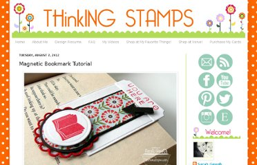 http://thinkingstamps.blogspot.com/2012/08/magnetic-bookmark-tutorial.html