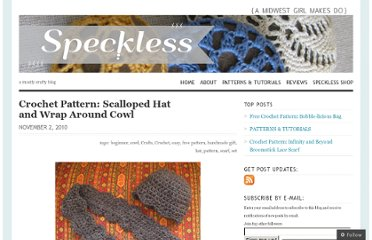http://speckless.wordpress.com/2010/11/02/free-crochet-pattern-scalloped-hat-and%c2%a0wrap-around%c2%a0cowl/