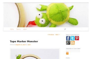 http://onelmon.com/blog/2012/08/tape-marker-monster/