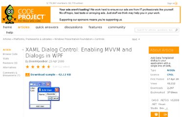http://www.codeproject.com/Articles/35553/XAML-Dialog-Control-Enabling-MVVM-and-Dialogs-in-W