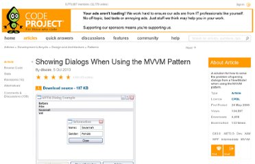 http://www.codeproject.com/Articles/36745/Showing-Dialogs-When-Using-the-MVVM-Pattern