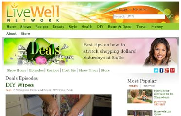 http://livewellnetwork.com/Deals/episodes/DIY-Wipes/8707415