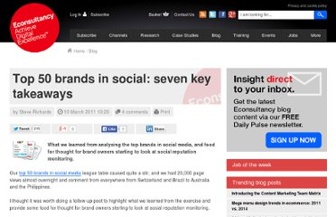 http://econsultancy.com/de/blog/7248-top-50-brands-in-social-the-key-takeaways