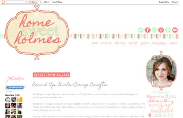 http://honeyimholmes.blogspot.com/2012/04/round-up-girls-camp-crafts.html