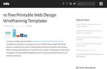 http://webdesignledger.com/freebies/10-free-printable-web-design-wireframing-templates