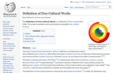 http://en.wikipedia.org/wiki/Definition_of_Free_Cultural_Works