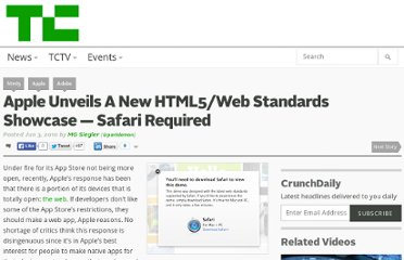 http://techcrunch.com/2010/06/03/apple-html5/