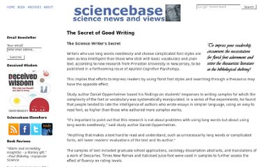 http://www.sciencebase.com/secret-of-good-writing.html