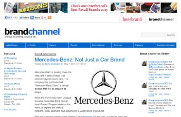 http://www.brandchannel.com/home/post/2010/05/07/Mercedes-Benz-Expands-Design-Portfolio.aspx