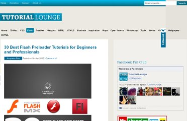 http://www.tutoriallounge.com/2010/04/30-best-flash-preloader-tutorials-for-beginners-and-professionals/