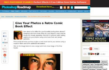 http://www.photoshoproadmap.com/Photoshop-blog/give-your-photos-a-retro-comic-book-effect/