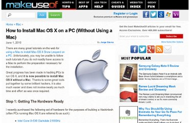 http://www.makeuseof.com/tag/how-to-install-mac-os-x-on-a-pc-without-using-a-mac/
