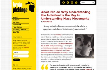 http://www.brainpickings.org/index.php/2012/08/21/anais-nin-diary-mass-movements/